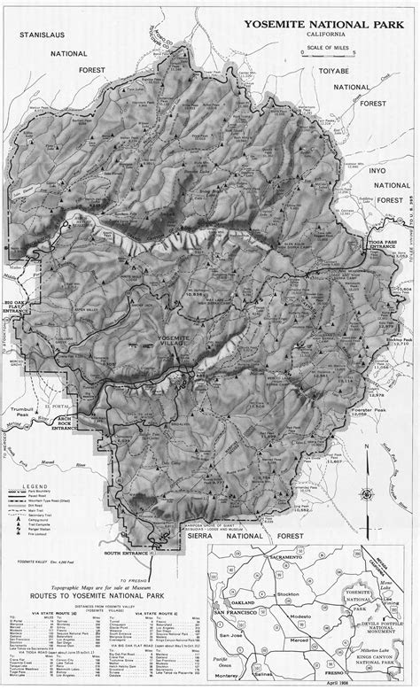 Yosemite Historic Maps (Yosemite Library Online)