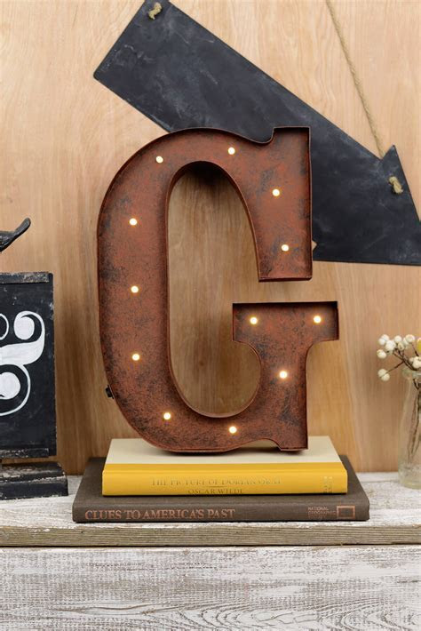 Marquee Letters G 12in Battery Operated 17 Warm White LED