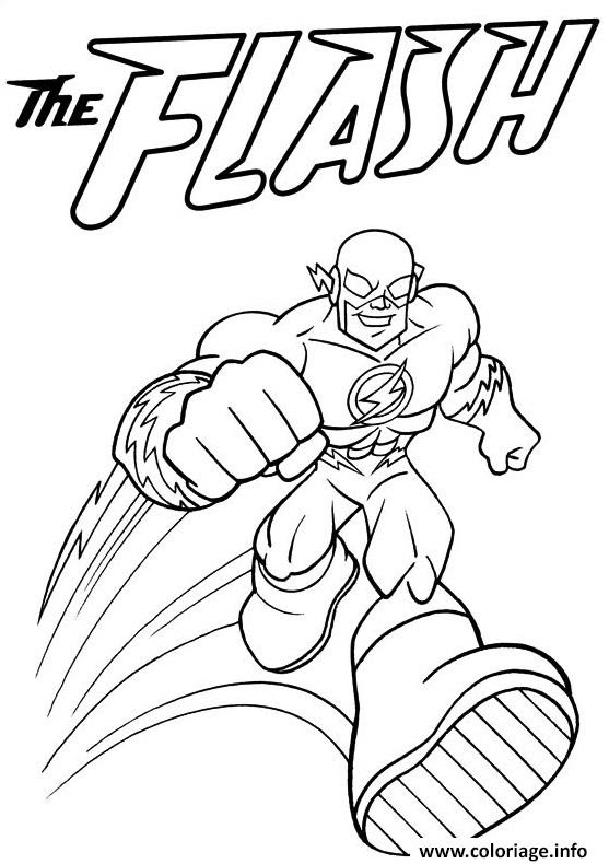 Coloriage Super Heros Flash Jecoloriecom