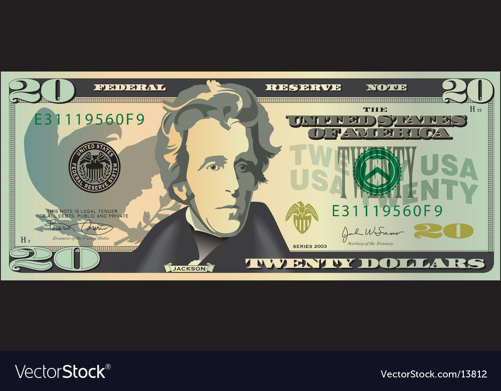 dollar bill artist. 20 Dollar Bill Vector. Artist:
