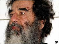 Saddam Hussein after his capture