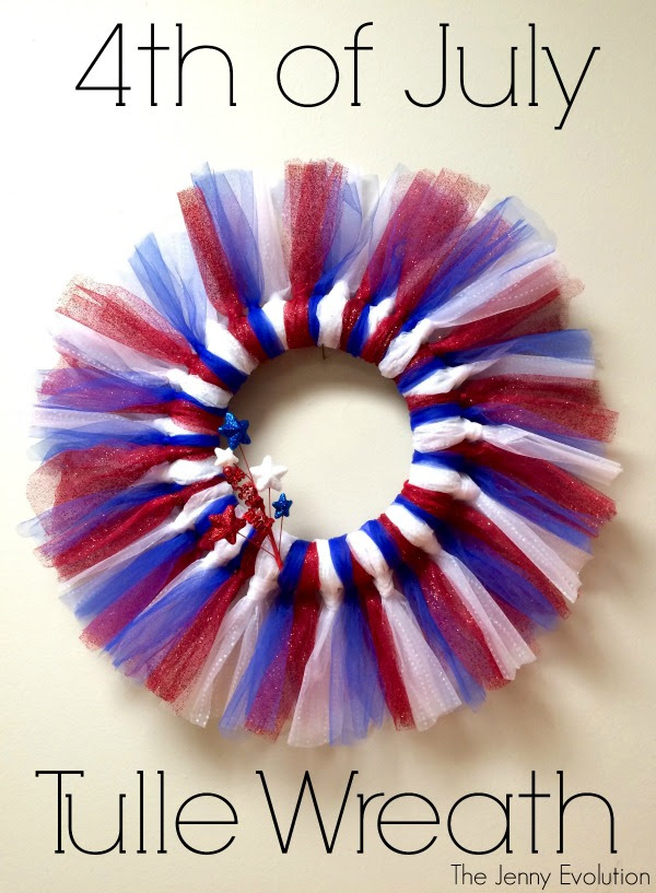 4th of July Tulle Wreath by The Jenny Evolution