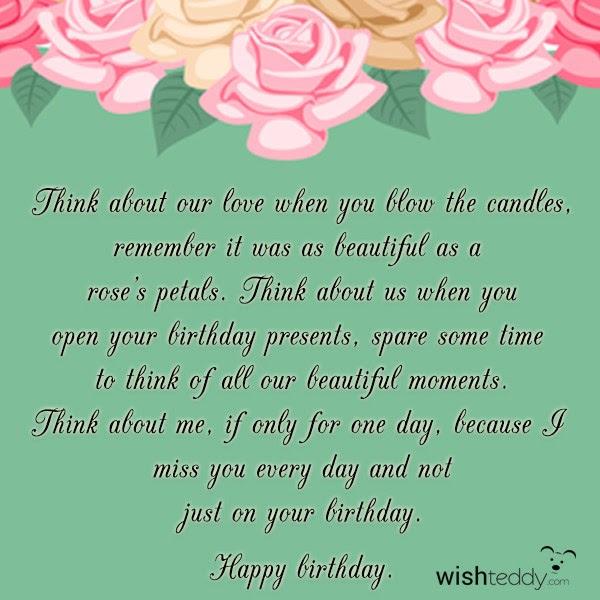 Birthday Wishes For Ex Boyfriend