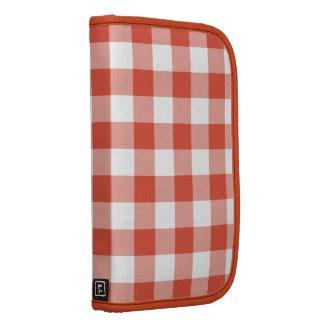 Orange and White Gingham Pattern rickshaw_folio