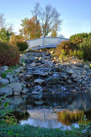 Bridge and Stream at the Wedding Gazebo