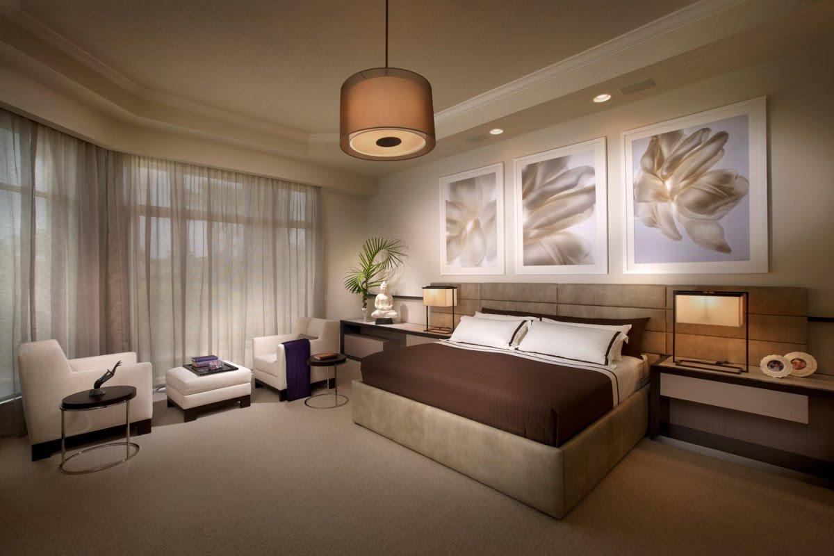 Modern Sleeping Room Interior Design Stock Image ...