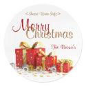 Christmas Present Customized Wine Label sticker