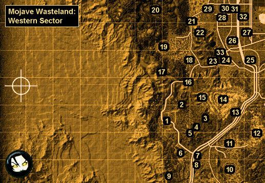Fallout New Vegas Honest Hearts Map