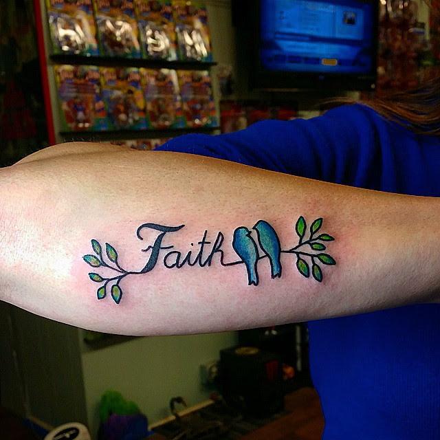 Faith Hope Love Tattoo On Wrist