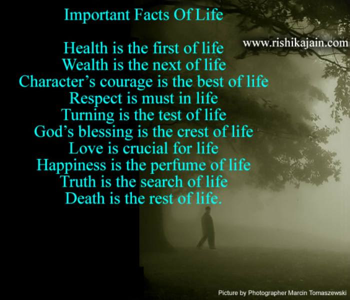 Important Facts Of Lifelife Quote Inspirational Quotes Pictures