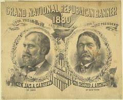Grand National Republican Banner 1880 Textile