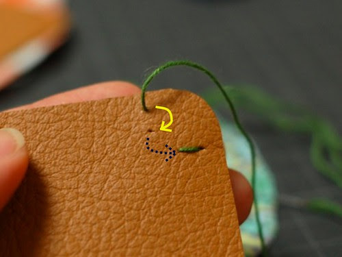 How to make a leather bottom pincushion 7