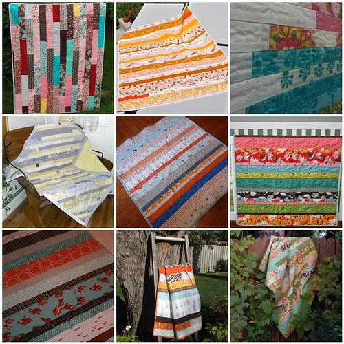 Strip Quilts that Caught my Eye