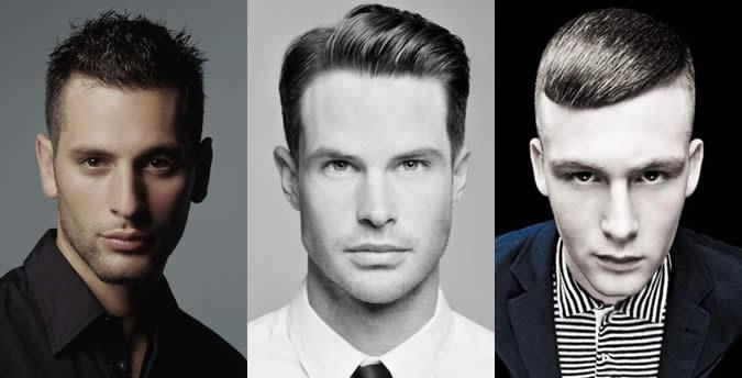 Masculinas Oblong formato do rosto Penteado Exemplos