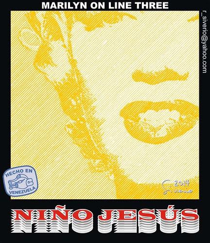 Marilyn On Line Three (Marilyn En línea Tres) by Niño Jesús