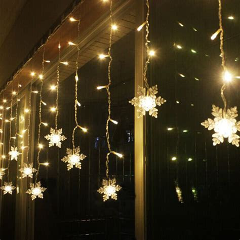 3.8M LED Curtain Snowflake String Lights LED Fairy Lights