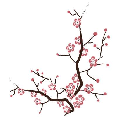桜の木イラスト和風aieps ベクタークラブイラストレーター素材が無料