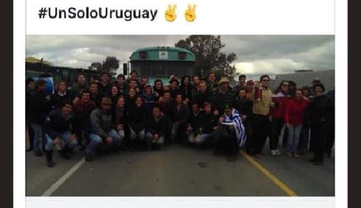 La foto de los estudiantes de Agronomía fue difundida en las redes sociales.