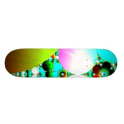 Crystal Sunrise - Abstract Fractal Rainbow Skateboard