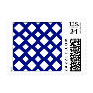 White Diamonds on Navy Stamp