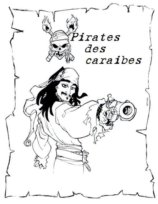 50 Ans Et Plus Coloriage Pirate Des Caraibes Coloriages