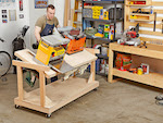 Flip-top Tool Bench Woodworking Plan - fee plans from WoodworkersWorkshop® Online Store - workshop, workbenches,fliptop,flip-top,spave saving,,full sized patterns,woodworking plans,woodworkers projects,blueprints,drawings,blueprints,how-to-build