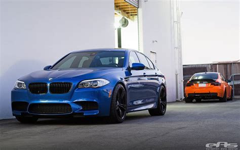 Fire Orange BMW M3 and Monte Carlo Blue BMW M5 by EAS