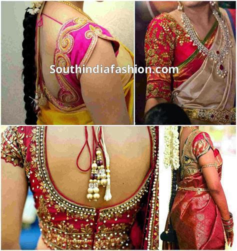 Blouse Designs for Wedding Sarees   South India Fashion