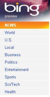 Bing news refinement