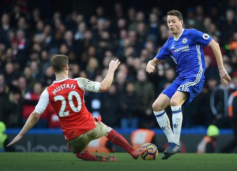 Nemanja Matić na meču sa Arsenalom