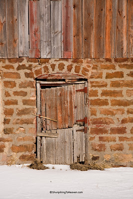 Barn Door in Old Barn Foundation, Sauk County, Wisconsin