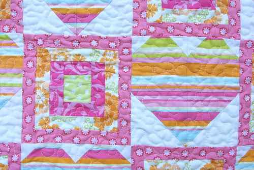 Sweet Hearts Baby Quilt Detail