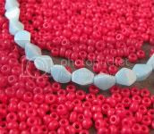 Coral and Turquoise Glass Beads