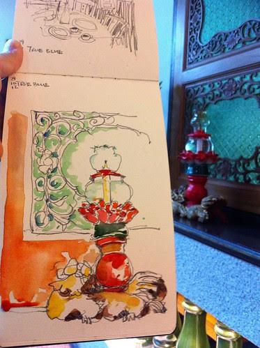 Sketching at True Blue Cuisine