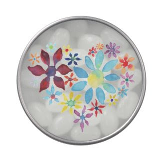 Heart of Flowers Candy Tin