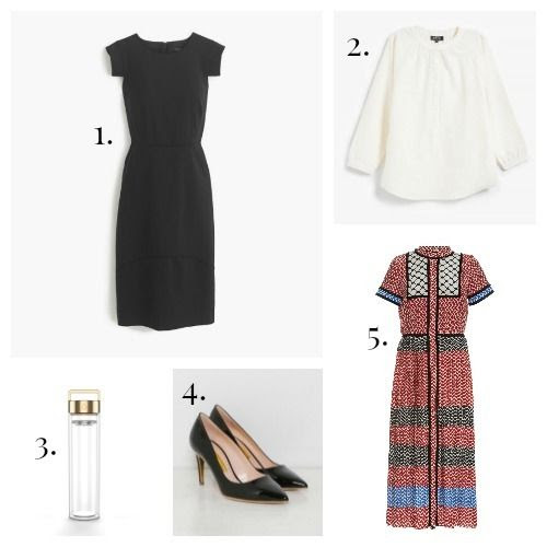 J.Crew Dress - A.P.C. Blouse - DropBottle - Rupert Sanderson Pumps - Dodo Bar Or Dress