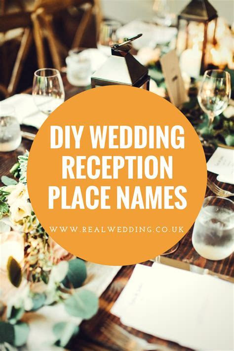 DIY wedding reception place names   Real Wedding