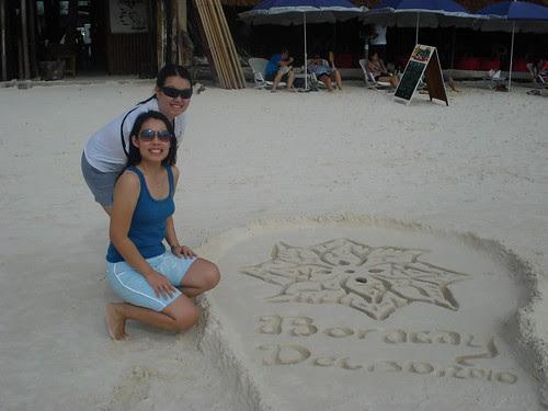 boracay sand art