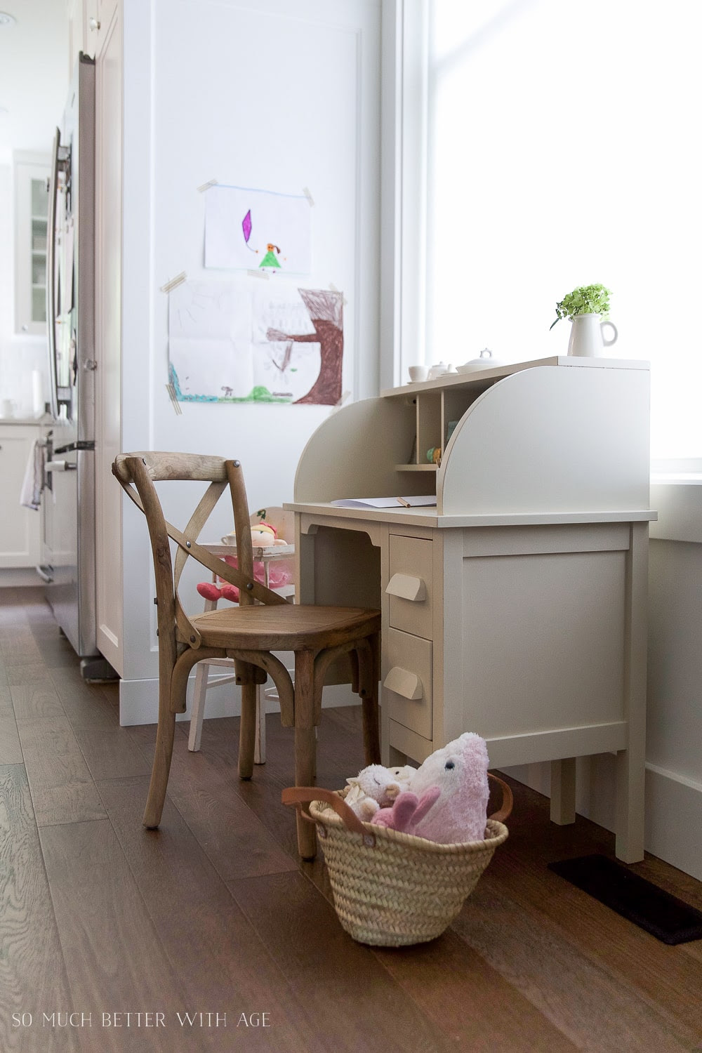 how-to-paint-over-bright-colored-furniture-vintage-kids-desk