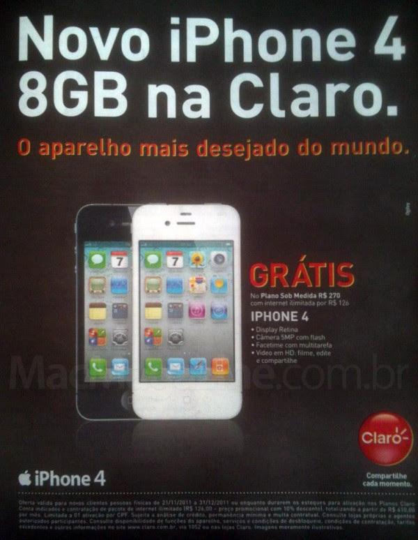 iPhone 4 de graça na Claro (Foto: Reprodução/MacMagazine)