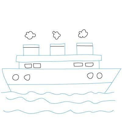 Schiff Zeichnen Leicht