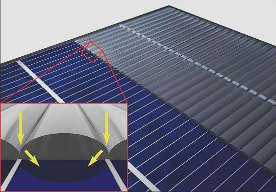 Célula solar ganha eficiência com manto de invisibilidade