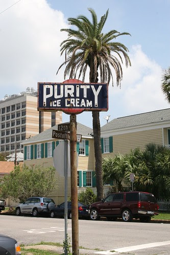 purity ice cream neon sign full length
