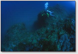 Возле острова Чатан (Chatan), Окинава, обнаружены гигантские прямоугольные вертикальные шахты и горизонтальные террасы.