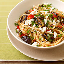Angel Hair Pasta with Eggplant Tomato Sauce
