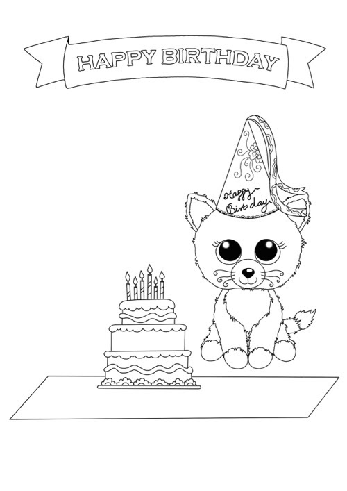 - Ty Beanie Boo Coloring Pages - Coloring Pages 2019