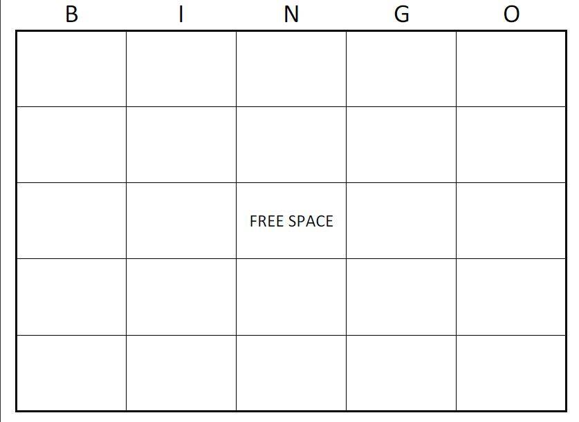 1000+ ideas about Bingo Card Template on Pinterest | Bingo ...