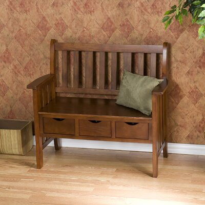 South Shore Noble Wood Storage Bench | Wayfair