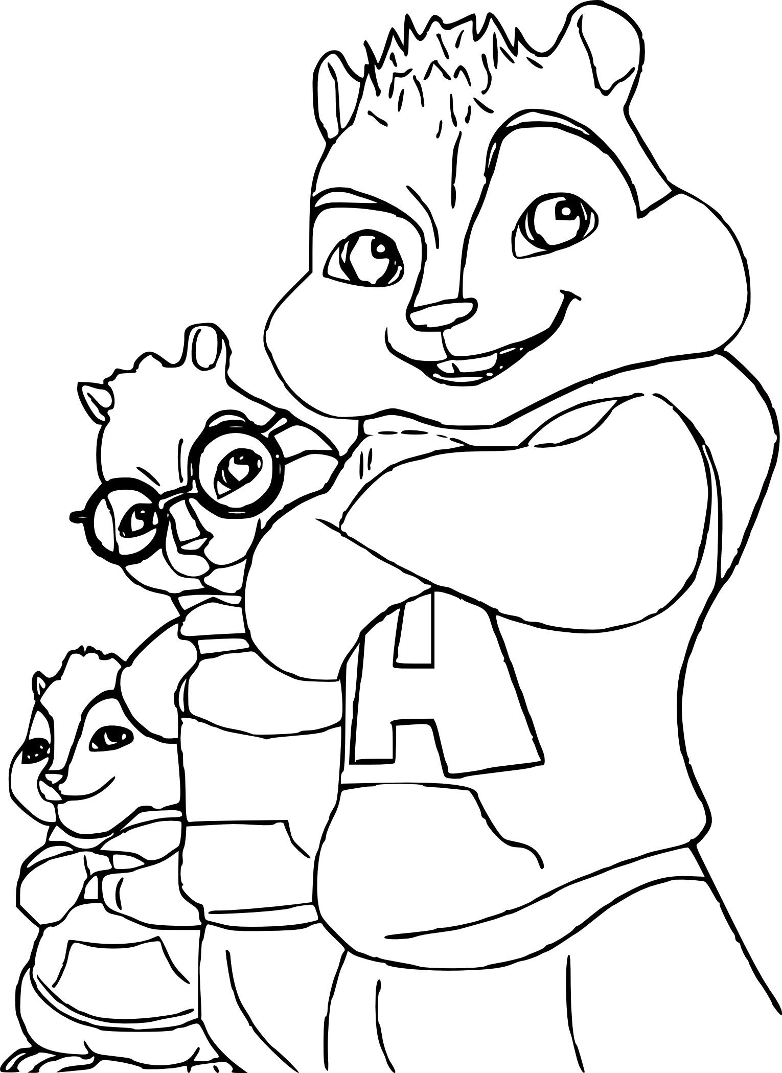 Belle Coloriage Alvin Et Les Chipmunks Gratuit | Haut Coloriage HD-Images et Imprimable Gratuit