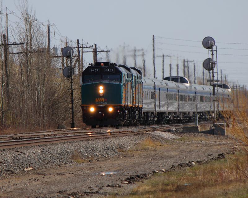 VIA 6457 in Winnipeg